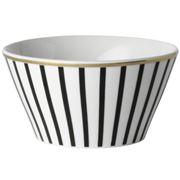 Dutch Rose - Bowl with Black Stripe and Golden Edges 10cm