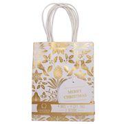 Vandoros - Fleur De Noel Gold/White Bag andTag
