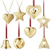 Georg Jensen - Christmas Ornament Set Gold 8pce