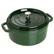Staub -Cocotte Round Basil Green 28cm/6.7Ltr