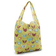 Eco-Chic - Foldaway Shopper Chickens Green