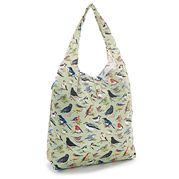 Eco-Chic - Foldaway Shopper Wild Birds Green