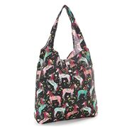 Eco-Chic - Foldaway Shopper Unicorn Black