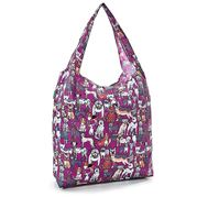 Eco-Chic - Foldaway Shopper Dogs Purple