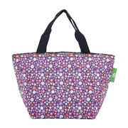 Eco-Chic - Insulated Lunch Bag Ditsy Doodle Purple