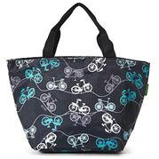 Eco-Chic - Insulated Lunch Bag Bikes Black