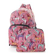 Eco-Chic - Foldable Backpack Unicorn Pink