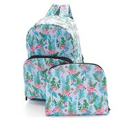 Eco-Chic - Foldable Backpack Flamingo Blue