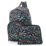 Eco-Chic - Foldable Backpack Dragonfly Black