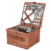 Avanti - 2 Person Wicker Picnic Basket Leopard Lining