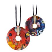 Goebel - Wassily Kandinsky 'Heavy Red' Necklace