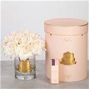 Cote Noire - Vase Twelve Roses Blush w/Pink Box