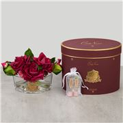 Cote Noire - Vase Oval Roses Carmine Red w/Red Box LE