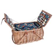 Avanti - 4 Person Willow Picnic Basket Aust.Native w/Hndl