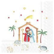 IHR - Lunch Napkin Christmas Crib 20pce