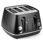 DeLonghi - Distinta Moments 4 Slice Toaster Sunshine Black