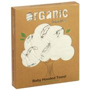 Bubba Blue - Organic Cotton Baby Hooded Towel Feathers
