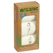 Bubba Blue - Organic Cotton Towelling Face Washers Pack 3pce