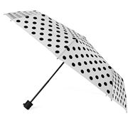 Clifton - Deluxe Mini Maxi White Umbrella Black Polka Dots