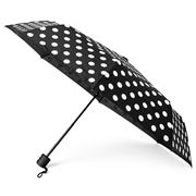 Clifton - Deluxe Mini Maxi Black Umbrella White Polka Dots