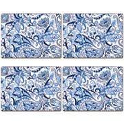 Cala Home - Hardboard Placemat Set  Blue Paisley 4pce