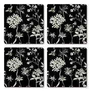 Cala Home - Hardboard Coaster Set  Midnight Garden 4pce