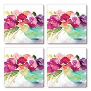Cala Home - Hardboard Coaster Set  Bowl Of Blooms 4pce