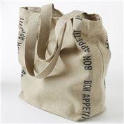 Charvet Editions - Shopping Bag Bon Appetit Black