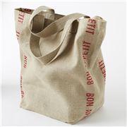 Charvet Editions - Shopping Bag Bon Appetit Red