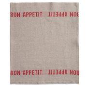 Charvet Editions - Napkin/Placemat Bon Appetit Red