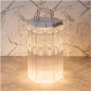 Baci Milano - Baroque & Rock LED Lamp Lantern Clear