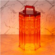 Baci Milano -  Baroque & Rock LED Lamp Lantern Coral