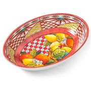 Baci Milano - Baroque & Rock Oval Serving Bowl Orange