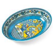 Baci Milano - Baroque & Rock Oval Serving Bowl Blue