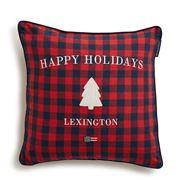 Lexington - Holiday Checked Sham Red/Blue 50x50cm
