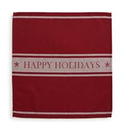 Lexington - Happy Holidays Napkin Red 50x50cm