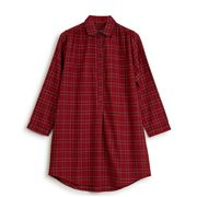 Lexington - Women's Checked Flannel Nightshirt Red XL