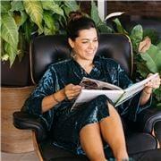 A.Trends - Kimono Crushed Velvet Robe Green S/M