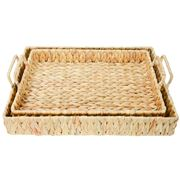 A.Trends - Water Hyacinth Picnic Tray Set 2pce