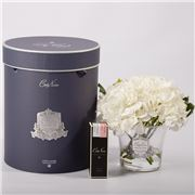 Cote Noire - Luxury Hydrangeas & Rosebuds Set White  3pce