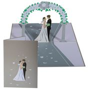 Colorpop - Wedding Day Silver Greeting Card