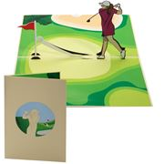 Colorpop - Lady Golfer Greeting Card