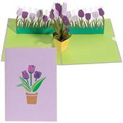 Colorpop - Tulip Bouquet Purple Greeting Card