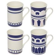 In The Roundhouse - Blue Collection Mug Set 4pce