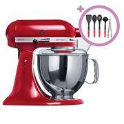 KitchenAid - KSM150 Empire Red Stand Mixer + Utensil Set