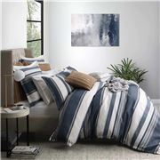 Private Collection - Laurant Denim Bed Quilt Cover Set Queen