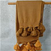 MM Linen - Birch Throw Ochre 130x170cm