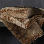 MM Linen - Snug Faux Fur Throw Caramel 150x180cm