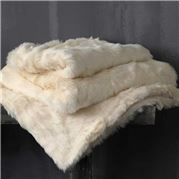 MM Linen - Snug Faux Fur Throw Vanilla 150x180cm