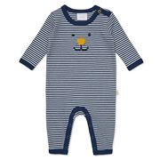 Marquise - Navy & White  Footless Studsuit  Size 00